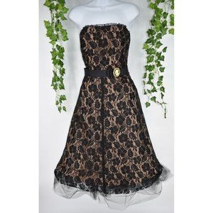 Anthropologie Calter lace steampunk tulle dress